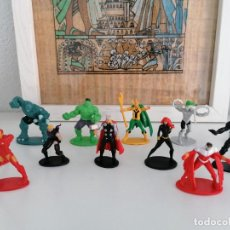 Figuras y Muñecos Marvel: HULK CAPITÁN AMERICA THOR ETC LOTE DE 12 FIGURAS DE MARVEL 2012. Lote 270258958
