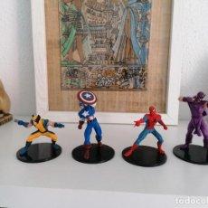 Figuras y Muñecos Marvel: HAWKEYE SPIDER MAN CAPITÁN AMÉRICA WOLVERINE MARVEL 2012. Lote 270350578