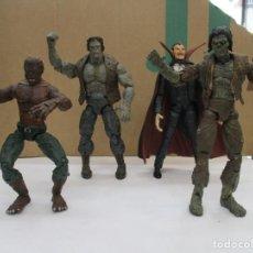 Figuras y Muñecos Marvel: MARVEL LEGENDS MONSTER - DRACULA - FRANKENSTEIN - ZOMBIE - WEREWOLF - 2006 TOY BIZ - DESCATALOGADA. Lote 276022203