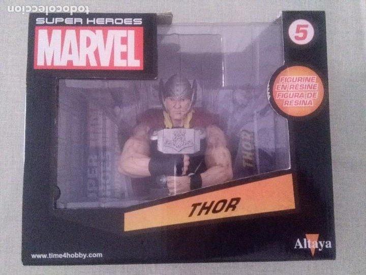 SUPER HEROES MARVEL THOR FIGURA RESINA COLEECION ALTAYA. (Juguetes - Figuras de Acción - Marvel)