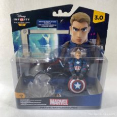 Figuras y Muñecos Marvel: DISNEY INFINITY 3.0 - MARVEL - BATTLEGROUNDS - CAPITÁN AMÉRICA - NUEVO EN SU BLISTER SIN ABRIR. Lote 279461563