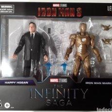Figuras y Muñecos Marvel: PACK FIGURAS HAPPY HOGAN Y IRON MAN MARK XXI THE INFINITY SAGA MARVEL LEGENDS. Lote 287840503