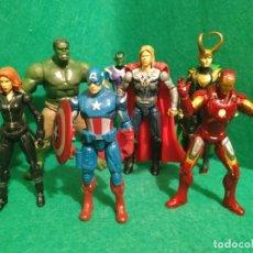 Figuras y Muñecos Marvel: AVENGERS VENGADORES HASBRO PELICULA 2012 CAPITAN AMERICA VIUDA NEGRA IRONMAN THOR HULK LOKI. Lote 287875693