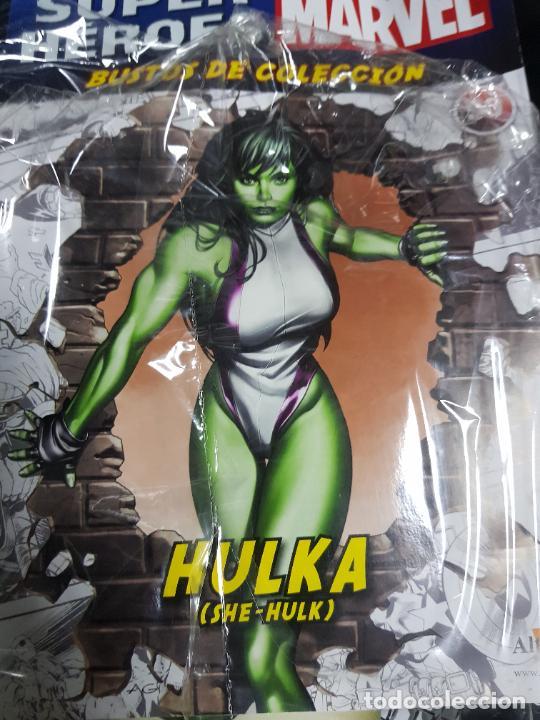 Figuras y Muñecos Marvel: BUSTO MARVEL - HULKA - Nº 50 - SUPERHÉROES MARVEL - COLECCION - 2019 - CON FASCÍCULO - Foto 11 - 215077497