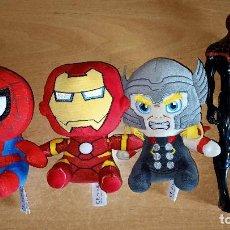 Figuras y Muñecos Marvel: MUÑECOS.PELUCHES.MARVEL.HASBRO.SPIDERMAN.THOR.IRON MAN.SPIDER MAN.LOTE.JUGUETES. Lote 288548563