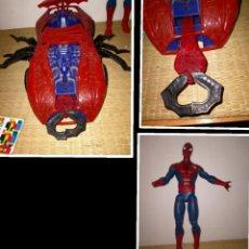Figuras y Muñecos Marvel: LOTE SPIDERMAN. COCHE GRANDE DE 1997. 42 CM Y REGALO FIGURA DE 30 CM. ACEPTO OFERTAS. Lote 288570178