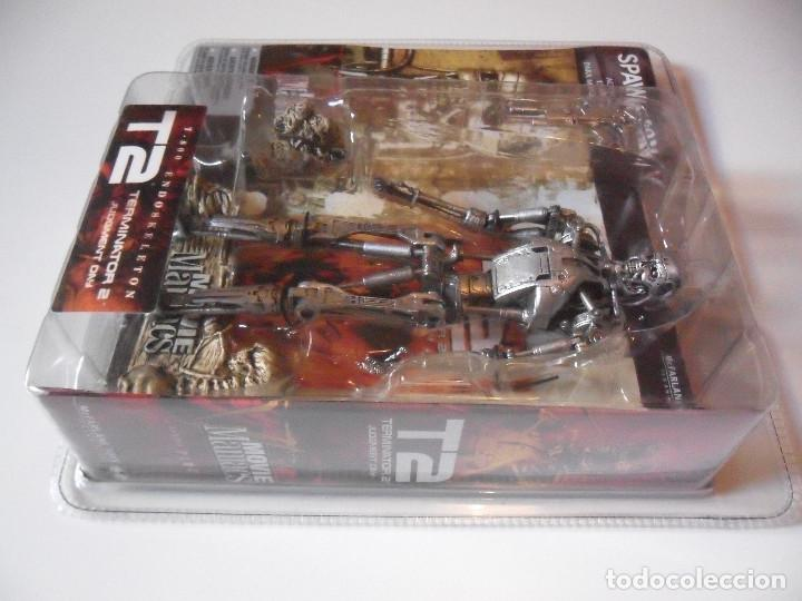 Figuras y Muñecos Mcfarlane: MOVIE MANIACS TERMINATOR 2 T-800 ENDOSKELETON FIGURA NUEVA EN BLISTER MCFARLANE 2002 - Foto 5 - 70209901