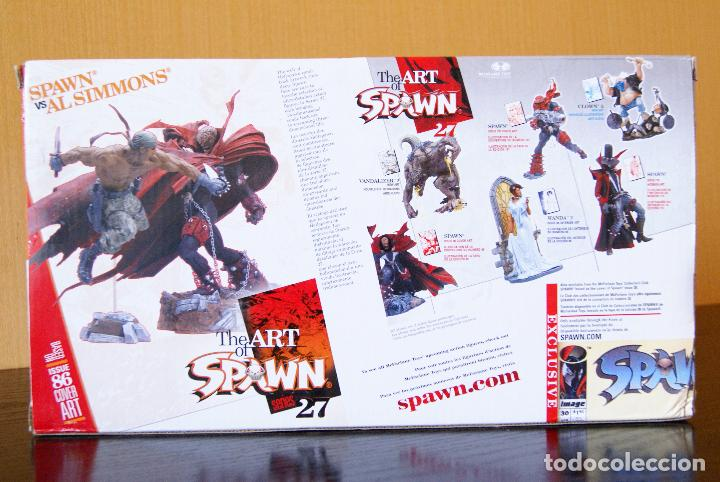 Figuras y Muñecos Mcfarlane: Spawn series 27-The Art of Spawn-Spawn vs Al Simmons Issue 86# Cover Art. Deluxe Boxed Set/McFarlane - Foto 2 - 79937613