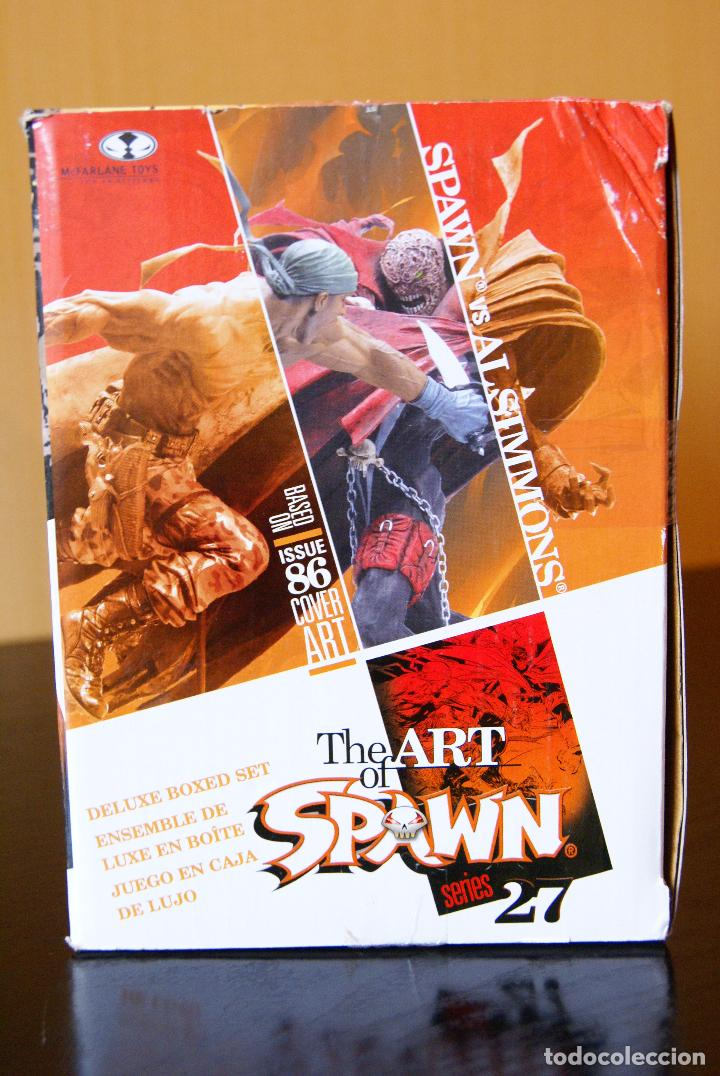 Figuras y Muñecos Mcfarlane: Spawn series 27-The Art of Spawn-Spawn vs Al Simmons Issue 86# Cover Art. Deluxe Boxed Set/McFarlane - Foto 3 - 79937613