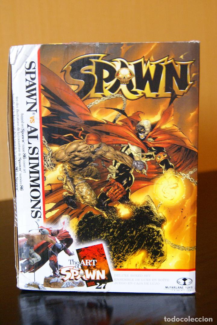 Figuras y Muñecos Mcfarlane: Spawn series 27-The Art of Spawn-Spawn vs Al Simmons Issue 86# Cover Art. Deluxe Boxed Set/McFarlane - Foto 4 - 79937613