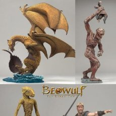 Figuras y Muñecos Mcfarlane: MCFARLANE:THE MOVIE-BEOWULF-PACK 4 FIGURAS (BLISTER INDIV): DRAGON,GRENDEL,MOTHER AND YOUNG BEOWULF. Lote 120908887