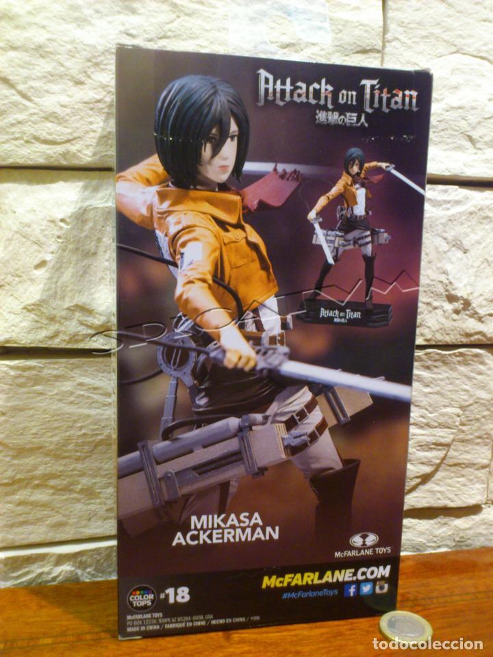 Figuras y Muñecos Mcfarlane: ATAQUE A LOS TITANES - ATTACK ON TITAN - MIKASA ACKERMAN - FIGURA - FUNIMATION - MCFARLANE - NUEVA - Foto 5 - 149970586