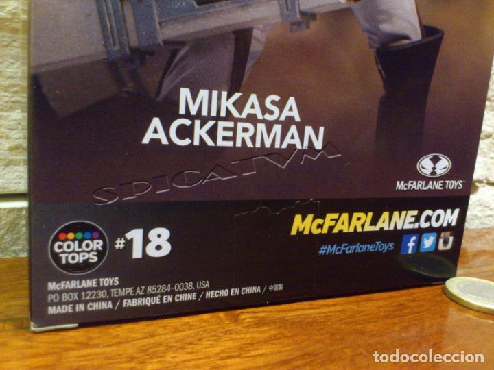 Figuras y Muñecos Mcfarlane: ATAQUE A LOS TITANES - ATTACK ON TITAN - MIKASA ACKERMAN - FIGURA - FUNIMATION - MCFARLANE - NUEVA - Foto 7 - 149970586