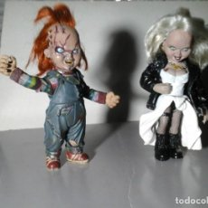 Figuras y Muñecos Mcfarlane: CHUCKY Y TIFFANY. SERIE 2. MOVIE MANIACS. MCFARLANE TOYS 1999. MUÑECOS. TERROR. RARO.. Lote 194205058