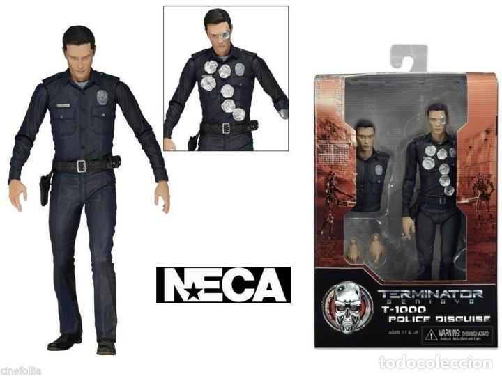 Figuras y Muñecos Mcfarlane: TERMINATOR GENESYS T-1000 POLICE DISGUISE FIGURA 18CM NECA * Official * EN BLISTER SELLADO - Foto 3 - 203176163