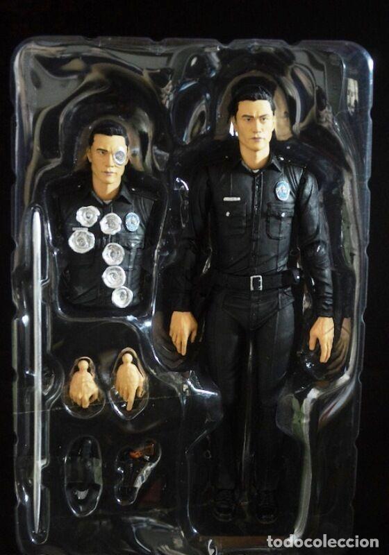 Figuras y Muñecos Mcfarlane: TERMINATOR GENESYS T-1000 POLICE DISGUISE FIGURA 18CM NECA * Official * EN BLISTER SELLADO - Foto 9 - 203176163