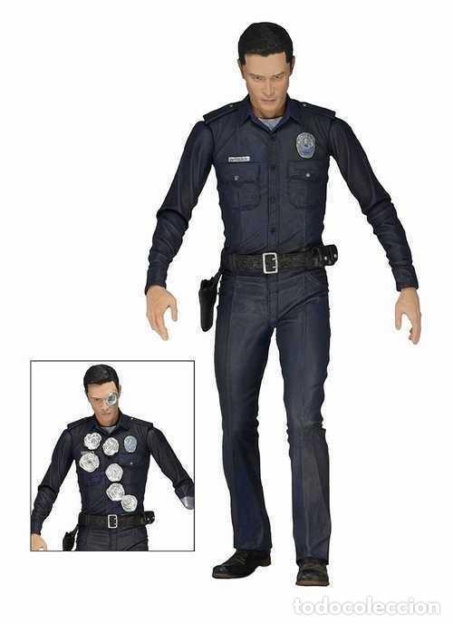 Figuras y Muñecos Mcfarlane: TERMINATOR GENESYS T-1000 POLICE DISGUISE FIGURA 18CM NECA * Official * EN BLISTER SELLADO - Foto 11 - 203176163