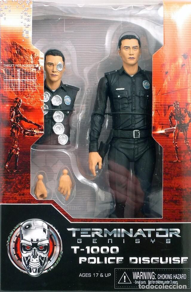 TERMINATOR GENESYS T-1000 POLICE DISGUISE FIGURA 18CM NECA * OFFICIAL * EN BLISTER SELLADO (Juguetes - Figuras de Acción - Mcfarlane)
