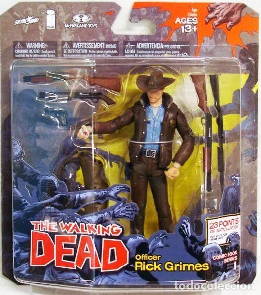 THE WALKING DEAD - RICK GRIMES COMIC BOOKS SERIES 1 MC FARLANE TOYS (Juguetes - Figuras de Acción - Mcfarlane)