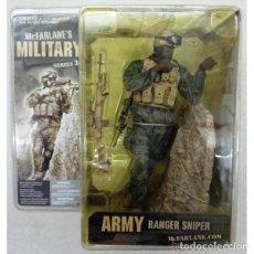 Figuras y Muñecos Mcfarlane: MCFARLANE MILITARY SERIES 3 ARMER RANGER SNIPER (AFRICAN-AMERICAN) 19 CTS. EXCELENTE ESTADO. Lote 295312308
