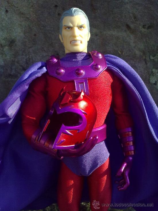 Figuras y Muñecos Mego: Línea Mego-Casa Medicom-X Men. Magneto- En Caja- 30 cms. ¡Impresionante trabajo en tela! - Foto 2 - 22015524
