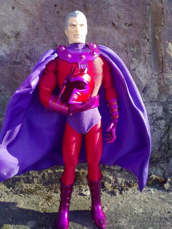 Figuras y Muñecos Mego: Línea Mego-Casa Medicom-X Men. Magneto- En Caja- 30 cms. ¡Impresionante trabajo en tela! - Foto 5 - 22015524