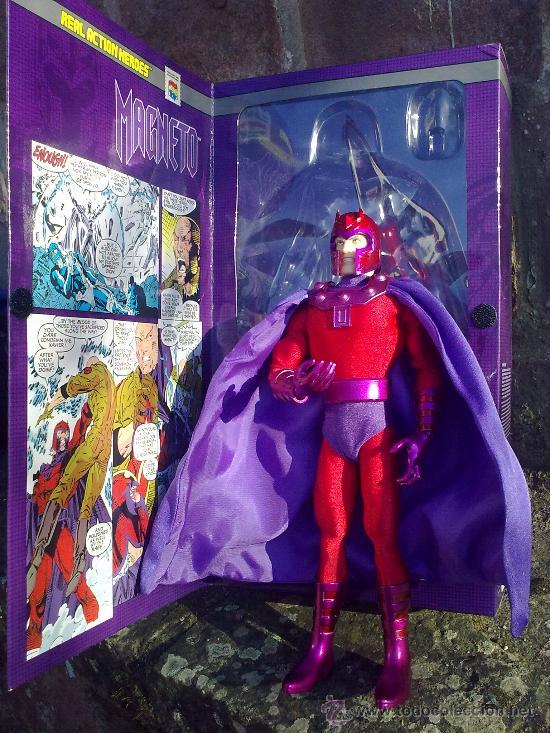 Figuras y Muñecos Mego: Línea Mego-Casa Medicom-X Men. Magneto- En Caja- 30 cms. ¡Impresionante trabajo en tela! - Foto 6 - 22015524