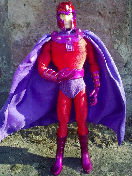 Figuras y Muñecos Mego: Línea Mego-Casa Medicom-X Men. Magneto- En Caja- 30 cms. ¡Impresionante trabajo en tela! - Foto 7 - 22015524