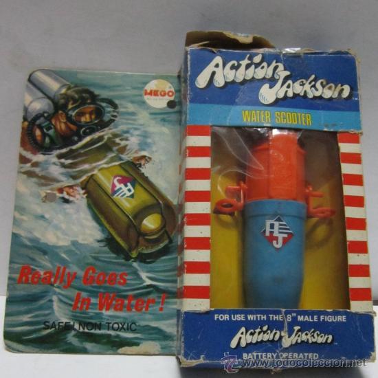 MEGO, ACTION JACKSON, WATER SCOOTER, EN CAJA. ( VER ) CC (Juguetes - Figuras de Acción - Mego)