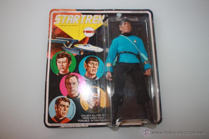 Figuras y Muñecos Mego: Star Trek Mr. Spock - Año 1974 - Mego - 1era Edición - Blister con 5 personajes dibujados - Foto 2 - 47239957