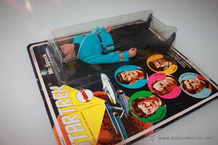 Figuras y Muñecos Mego: Star Trek Mr. Spock - Año 1974 - Mego - 1era Edición - Blister con 5 personajes dibujados - Foto 3 - 47239957