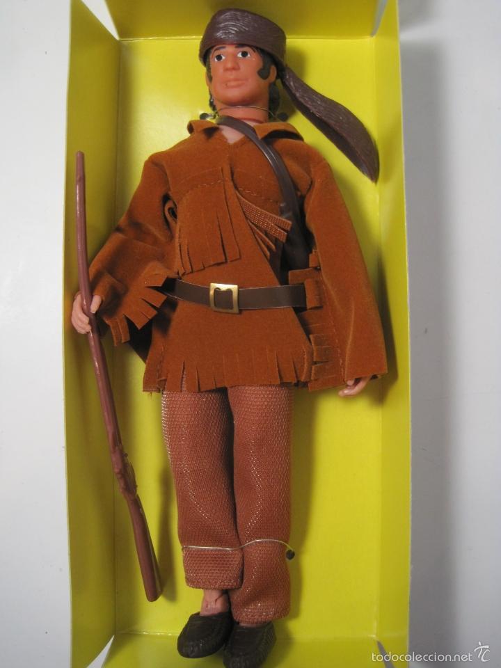 Figuras y Muñecos Mego: DAVEY CROCKETT MITICO EXPLORADOR DEL OESTE REEDICION DE MEGO NUEVO EN CAJA - Foto 2 - 57919155