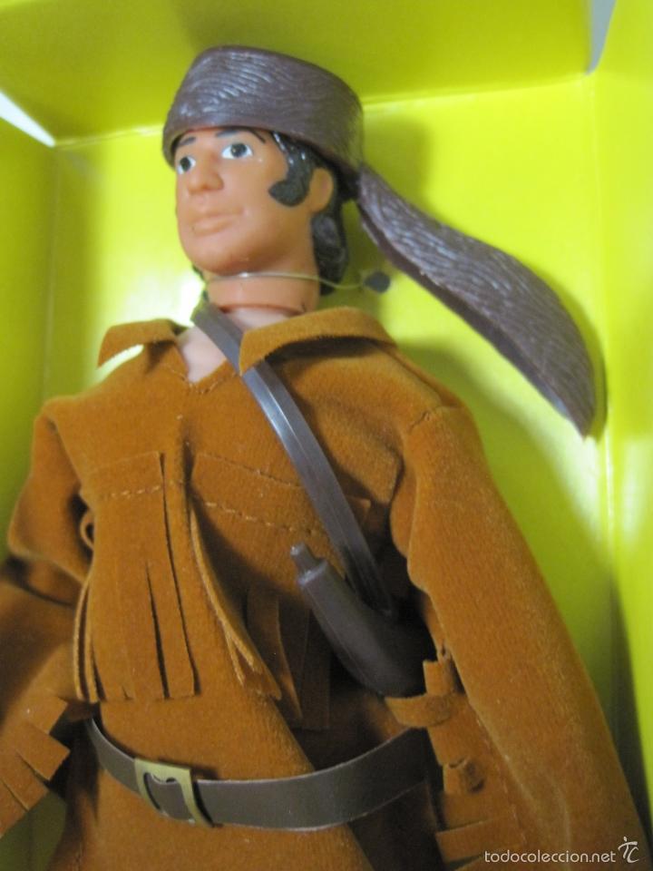 Figuras y Muñecos Mego: DAVEY CROCKETT MITICO EXPLORADOR DEL OESTE REEDICION DE MEGO NUEVO EN CAJA - Foto 3 - 57919155