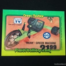 Figuras y Muñecos Mego: TRADING CARD - PLAIDSTALLIONS - MEGO - GREEN MACHINE - Nº 10. Lote 58742300