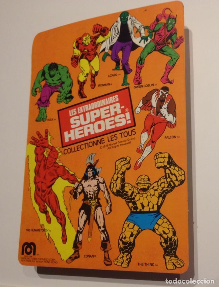 Figuras y Muñecos Mego: MEGO SPIDERMAN ORIGINAL 1978 versión venta en Francia. MIB - Foto 4 - 63316071