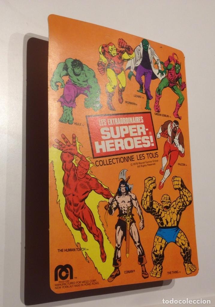 Figuras y Muñecos Mego: MEGO SPIDERMAN ORIGINAL 1978 versión venta en Francia. MIB - Foto 5 - 63316071