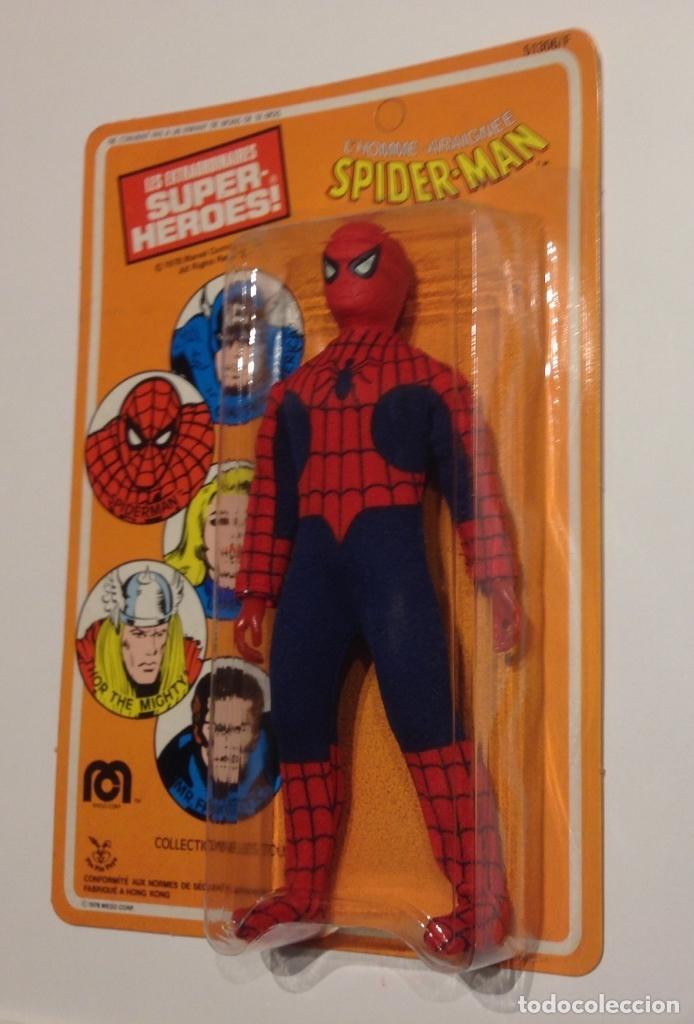 Figuras y Muñecos Mego: MEGO SPIDERMAN ORIGINAL 1978 versión venta en Francia. MIB - Foto 6 - 63316071