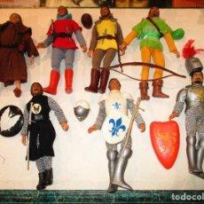 Figuras y Muñecos Mego: COLECCION ROBIN HOOD + COLECCION CABALLEROS MESA REDONDA-MEGO ORIGINALES AÑOS 70-. Lote 72889887