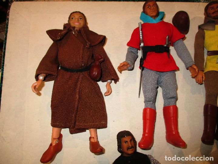 Figuras y Muñecos Mego: COLECCION ROBIN HOOD + COLECCION CABALLEROS MESA REDONDA-MEGO ORIGINALES AÑOS 70- - Foto 2 - 72889887