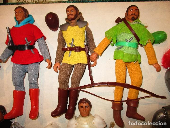 Figuras y Muñecos Mego: COLECCION ROBIN HOOD + COLECCION CABALLEROS MESA REDONDA-MEGO ORIGINALES AÑOS 70- - Foto 3 - 72889887