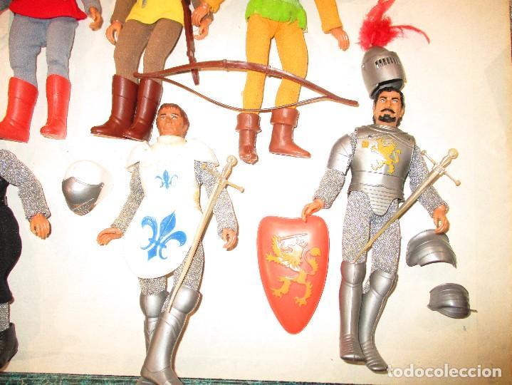 Figuras y Muñecos Mego: COLECCION ROBIN HOOD + COLECCION CABALLEROS MESA REDONDA-MEGO ORIGINALES AÑOS 70- - Foto 4 - 72889887
