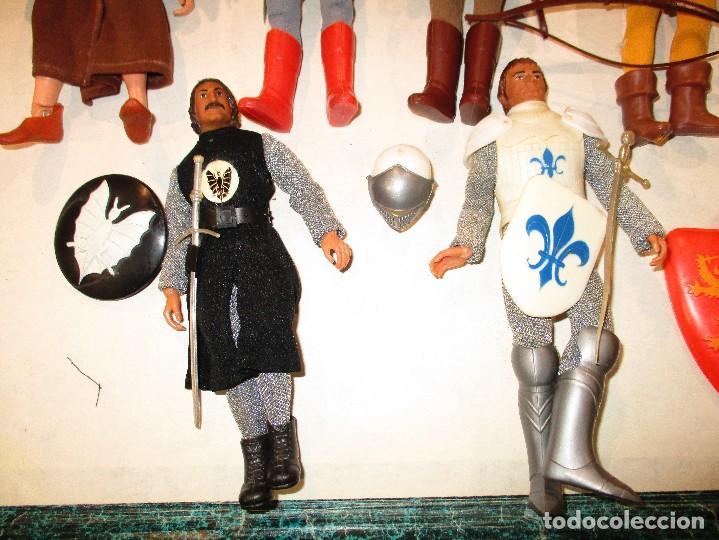 Figuras y Muñecos Mego: COLECCION ROBIN HOOD + COLECCION CABALLEROS MESA REDONDA-MEGO ORIGINALES AÑOS 70- - Foto 5 - 72889887