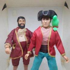 Figuras y Muñecos Mego: MEGO - SUPER PIRATES - LONG JOHN SILVER & BLACKBEARD. Lote 105576639