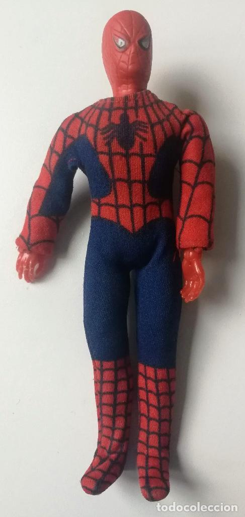 ANTIGUA FIGURA DE MEGO - SPIDERMAN - MARVEL - AÑO 1975 - SUPER HEROES - CON MECANISMO EN LA ESPALDA (Juguetes - Figuras de Acción - Mego)