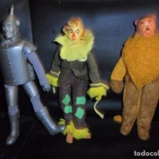 Figuras y Muñecos Mego: EL MAGO DE OZ, LEON, EL ESPANTAPAJAROS Y EL HOMBRE DE LATA - MEGO ORIGINALES 1974 -. Lote 147491174