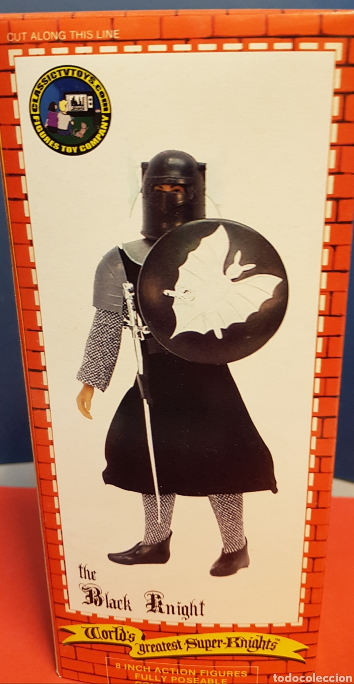 Figuras y Muñecos Mego: CABALLERO NEGRO MEGO REPRO CLASSIC TV TOYS - Foto 3 - 178633447
