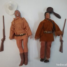 Figuras y Muñecos Mego: LOTE MEGO HEROES OF THE AMERICAN WEST BUFFALO BILL DAVI CROCKETT. Lote 179523308