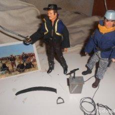 Figuras y Muñecos Mego: LOTE MADELMAN OESTE 3ª SERIE ENMASCARADO 'ZORRO' + SOLDADO CABALLERIA LITTLE BIG, RAREZAS. Lote 182295372