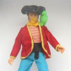 Figuras y Muñecos Mego: PIRATA JOHN LONG SILVER FABRICADO POR MEGO AÑOS 7O (NO REEDICION) SERIE WORLD FAMOUS PIRATES. Lote 182501986