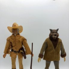 Figurines et Jouets Mego: LOTE 2 FIGURAS MEGO BUFFALO BILL Y MEGO WOLFMAN HOMBRE LOBO /NO ES MADELMAN GIPERMAN. Lote 195678590